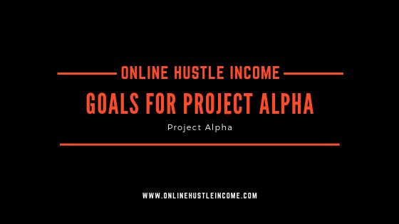 Goals for project alpha